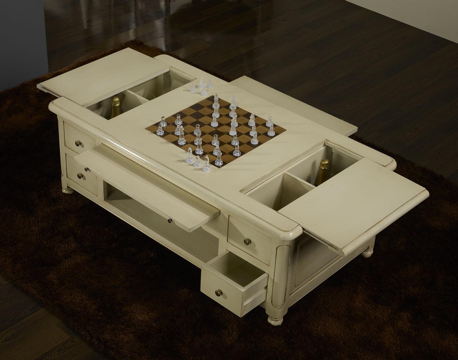 Table basse jeu d 39 chec en merisier de style louis - Table basse louis philippe ...