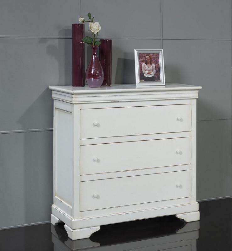 Commode 3 tiroirs cl mence en merisier massif de style louis philippe meuble en merisier massif - Commode louis philippe merisier ...