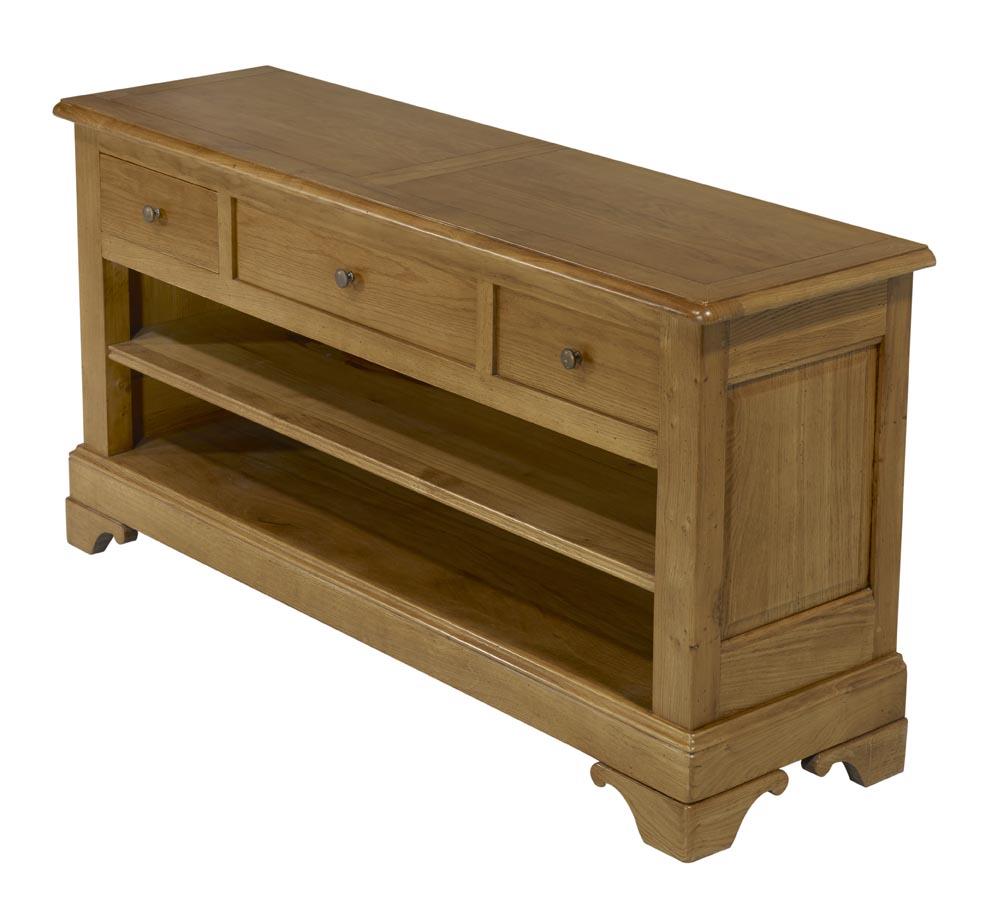 meuble tv 16 9eme en ch ne massif de style louis philippe meuble en ch ne massif. Black Bedroom Furniture Sets. Home Design Ideas