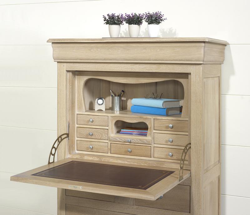 secr taire jules en ch ne massif de style louis philippe. Black Bedroom Furniture Sets. Home Design Ideas