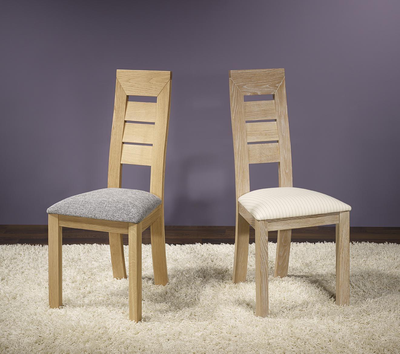 Chaise mathis en ch ne massif ligne contemporaine meuble for Meuble en ligne