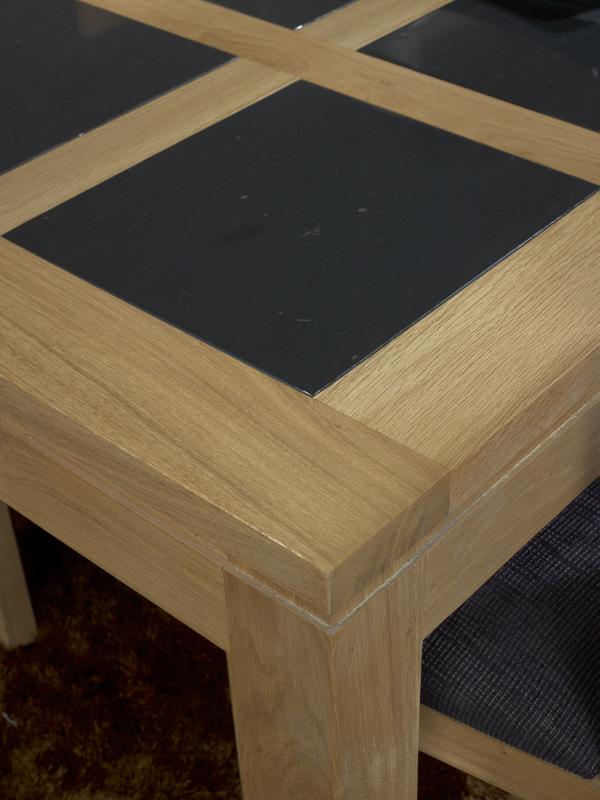Table de repas rectangulaire 200x100 mathis en ch ne ligne - Table rectangulaire chene massif ...