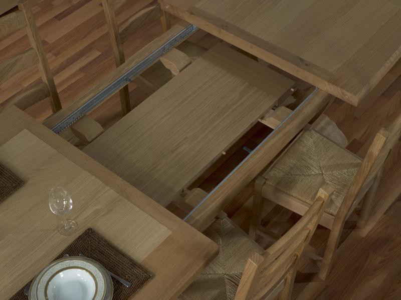 Table rectangulaire monast re gautier 220x110 2 allonges for Table ronde chene massif avec allonges