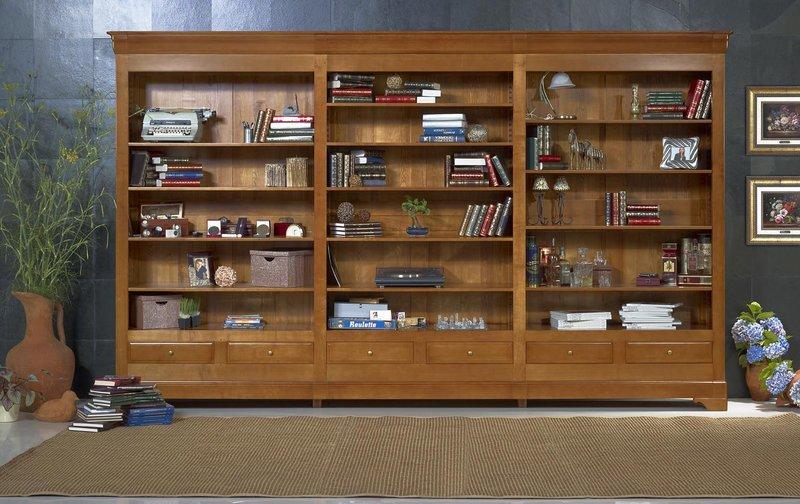 meuble tv bibliothèque bois massif – Artzein.com