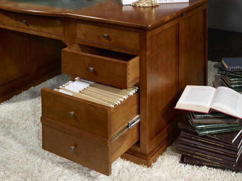 bureau ministre sp cial dossiers suspendus en merisier. Black Bedroom Furniture Sets. Home Design Ideas