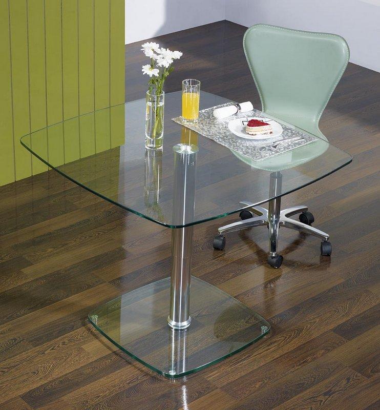 table basse ou de repas verre carr e hauteur r glable. Black Bedroom Furniture Sets. Home Design Ideas