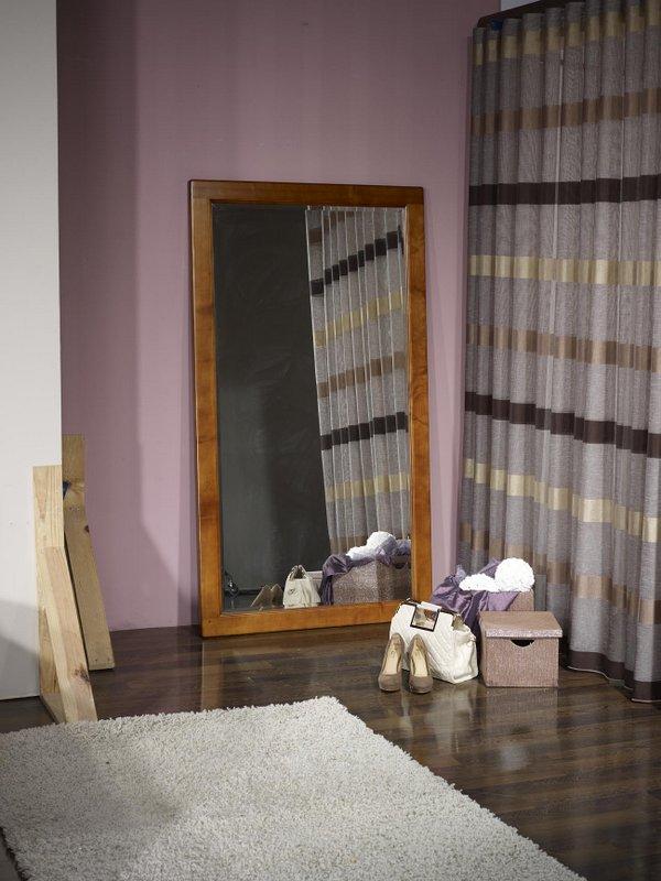 Miroir Bois Clair : Miroir glace biseaut?e en Merisier Massif , meuble en Merisier massif