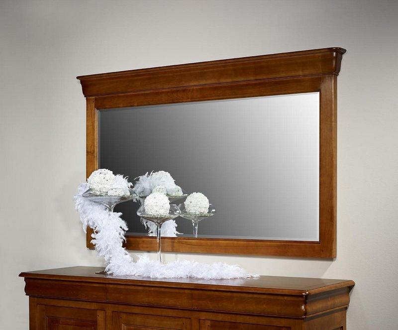 miroir pour buffet 3 portes en merisier massif de style