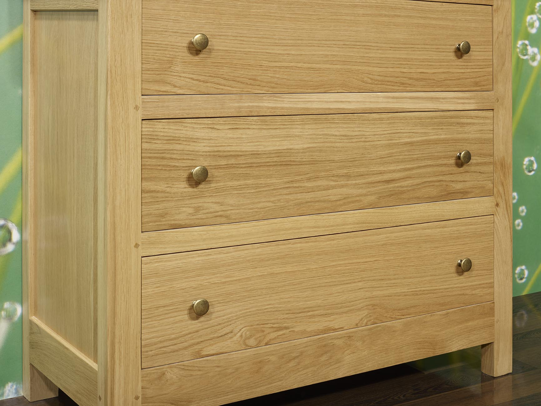 commode 3 tiroirs patrice en ch ne massif de stytle. Black Bedroom Furniture Sets. Home Design Ideas