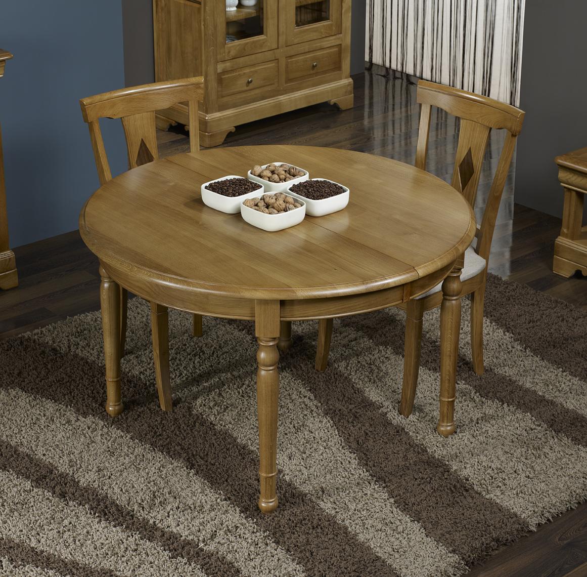 table ronde richard en ch ne massif de style louis. Black Bedroom Furniture Sets. Home Design Ideas