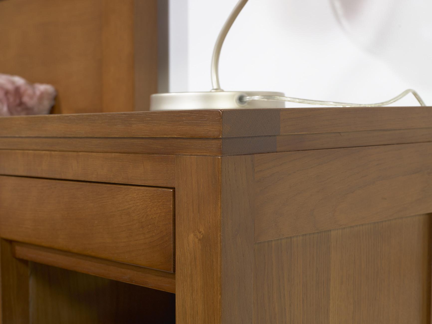 Commode 3 tiroirs en ch ne massif de style contemporain meuble en ch ne massif - Meubles contemporains bois massif ...
