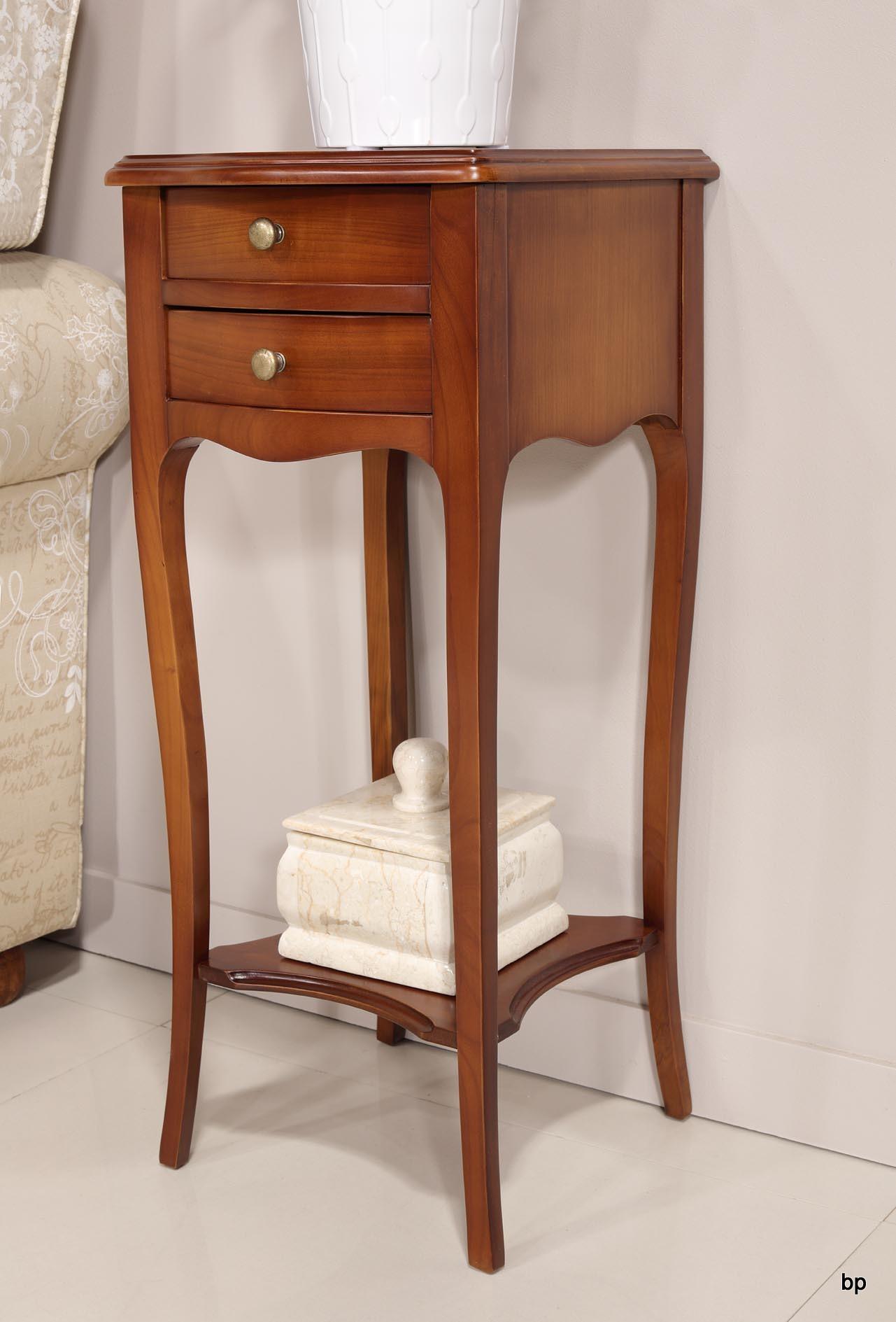 table de nuit 2 tiroirs en merisier de style louis xv. Black Bedroom Furniture Sets. Home Design Ideas