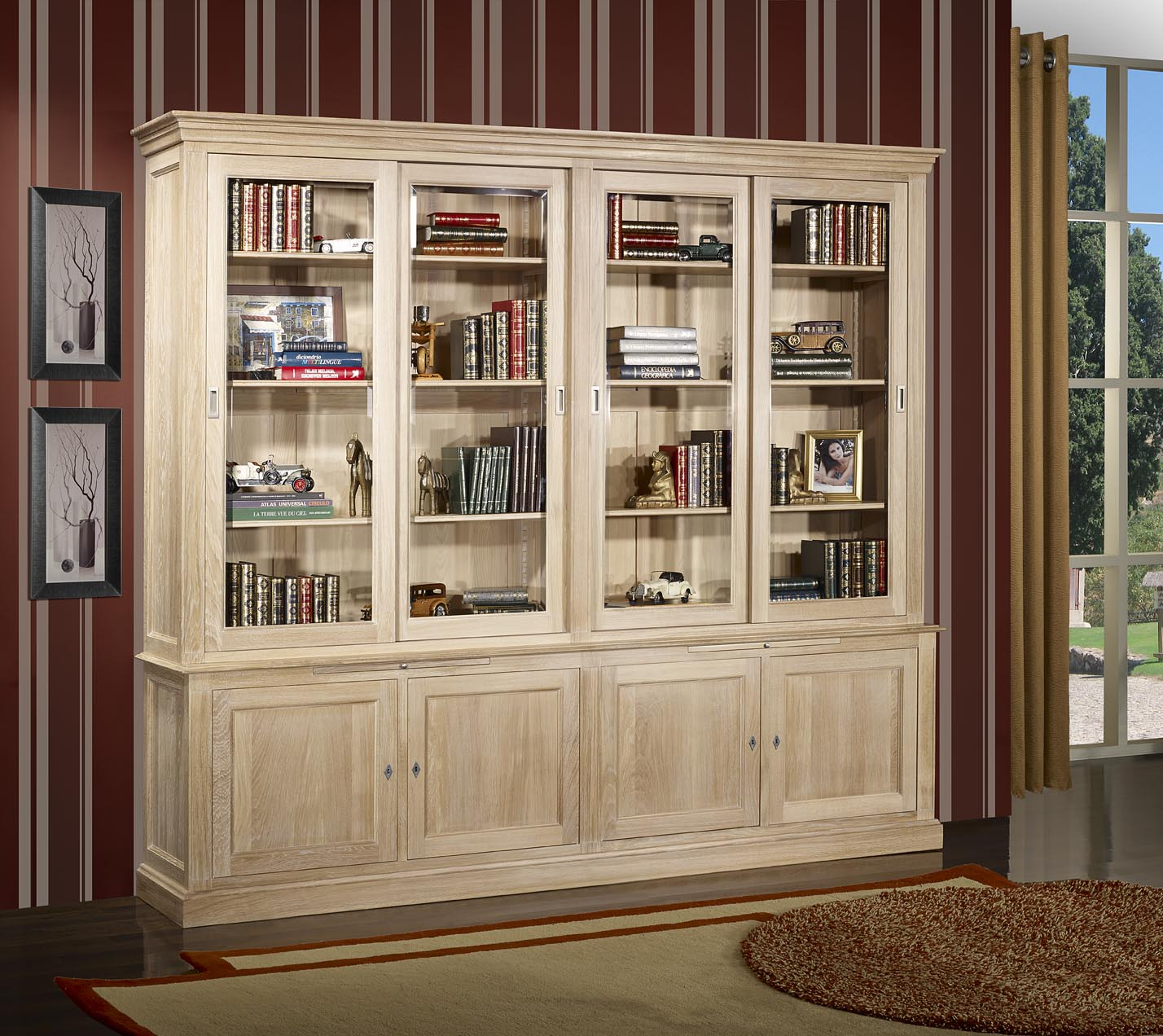 meuble tv bibliotheque bois brut sammlung. Black Bedroom Furniture Sets. Home Design Ideas