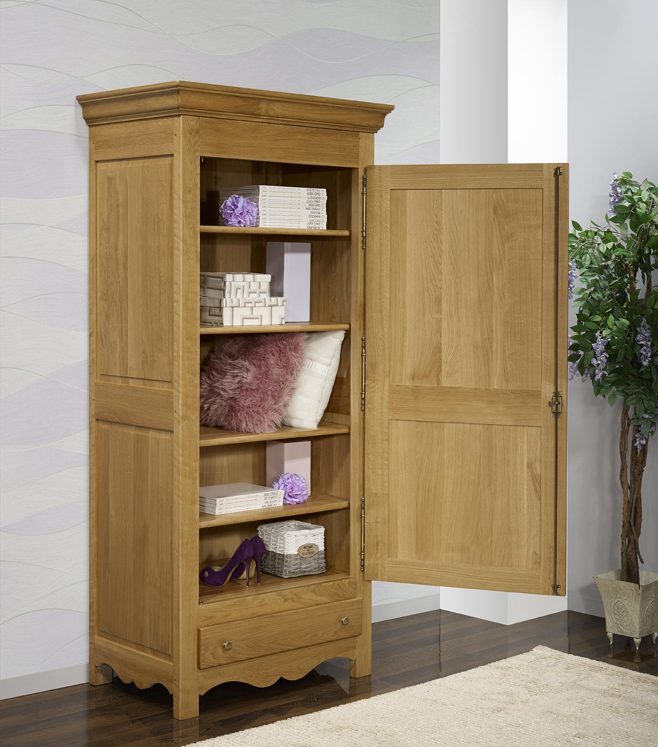 Bonneti re 1 porte 1 tiroir en ch ne massif de style campagnard meuble en c - Meuble style campagnard ...