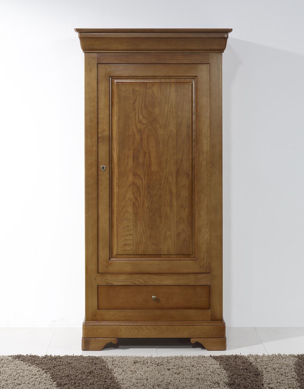 bonneti re 1 porte 1 tiroir en merisier massif de style louis philippe meuble en merisier massif. Black Bedroom Furniture Sets. Home Design Ideas