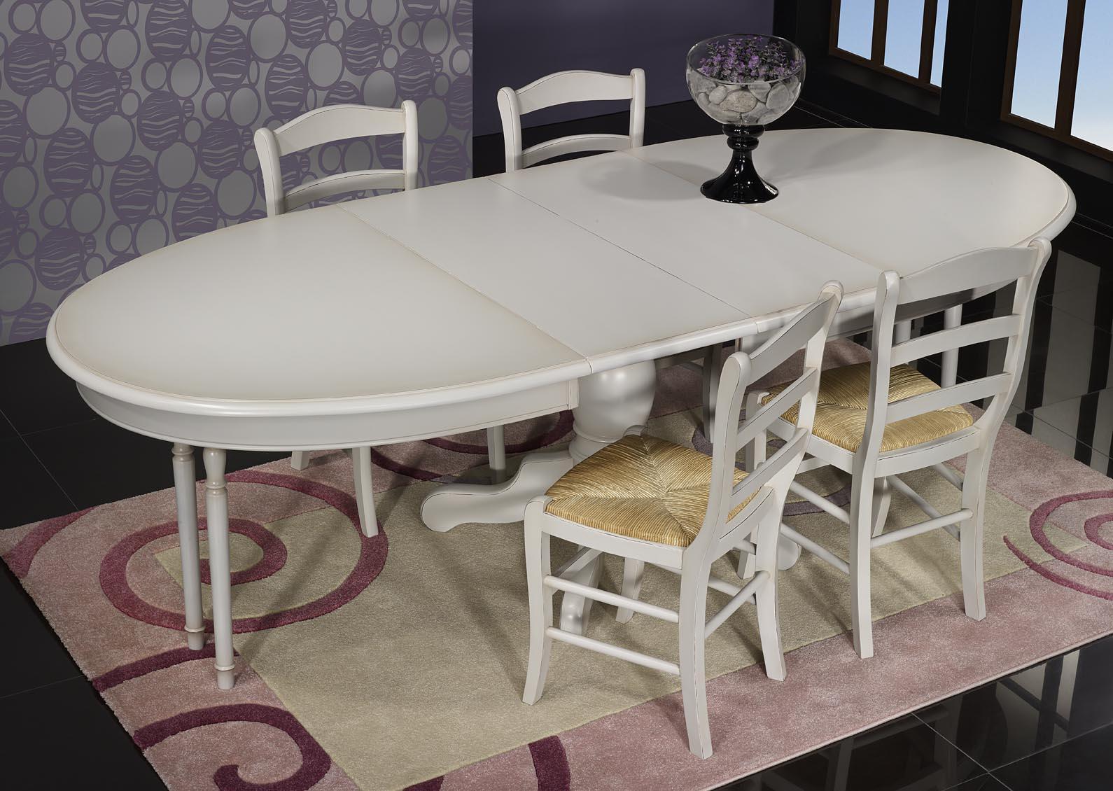 table ovale 135x110 pied central delphine en merisier. Black Bedroom Furniture Sets. Home Design Ideas