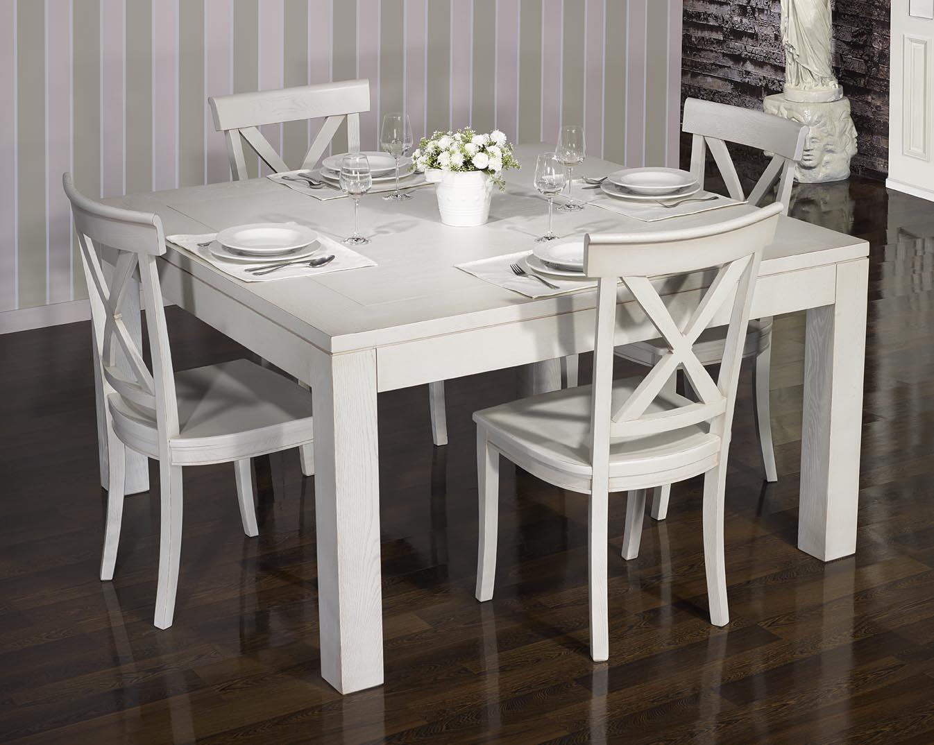 Table de salle à manger 150*150 CONTEMPORAINE en Chêne ...