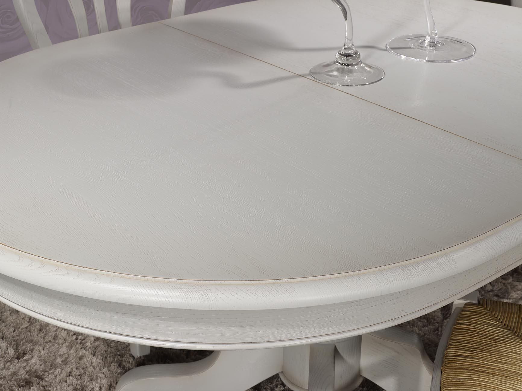 Table ovale pied central romain en ch ne massif de style - Table ovale pied central design ...