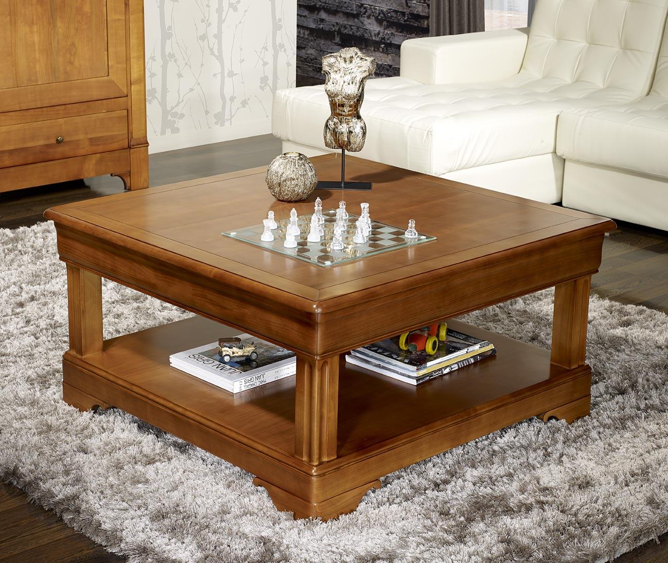 Table Basse Carr E En Merisier De Style Louis Philippe