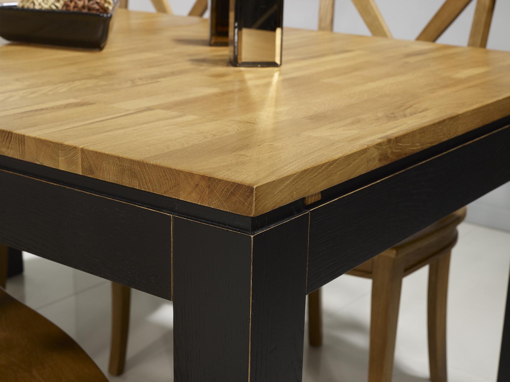 table de repas rectangulaire 160x100 th o en ch ne ligne. Black Bedroom Furniture Sets. Home Design Ideas