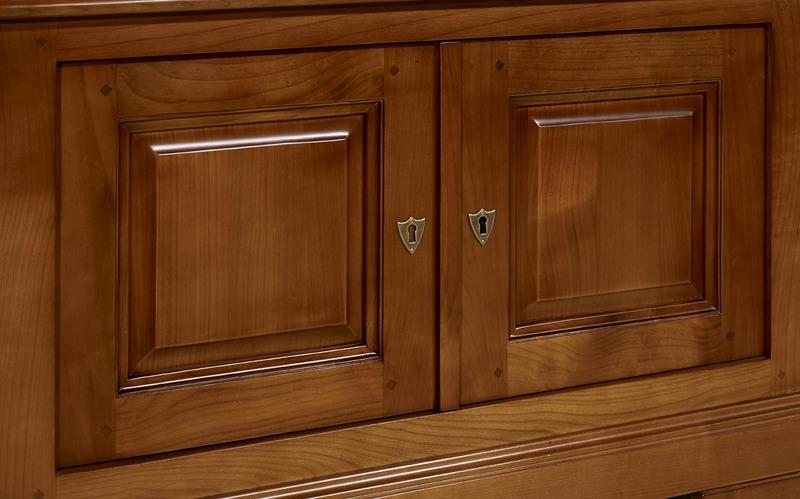 meuble tv 2 portes maryse en merisier massif de style louis philippe meuble en merisier massif. Black Bedroom Furniture Sets. Home Design Ideas