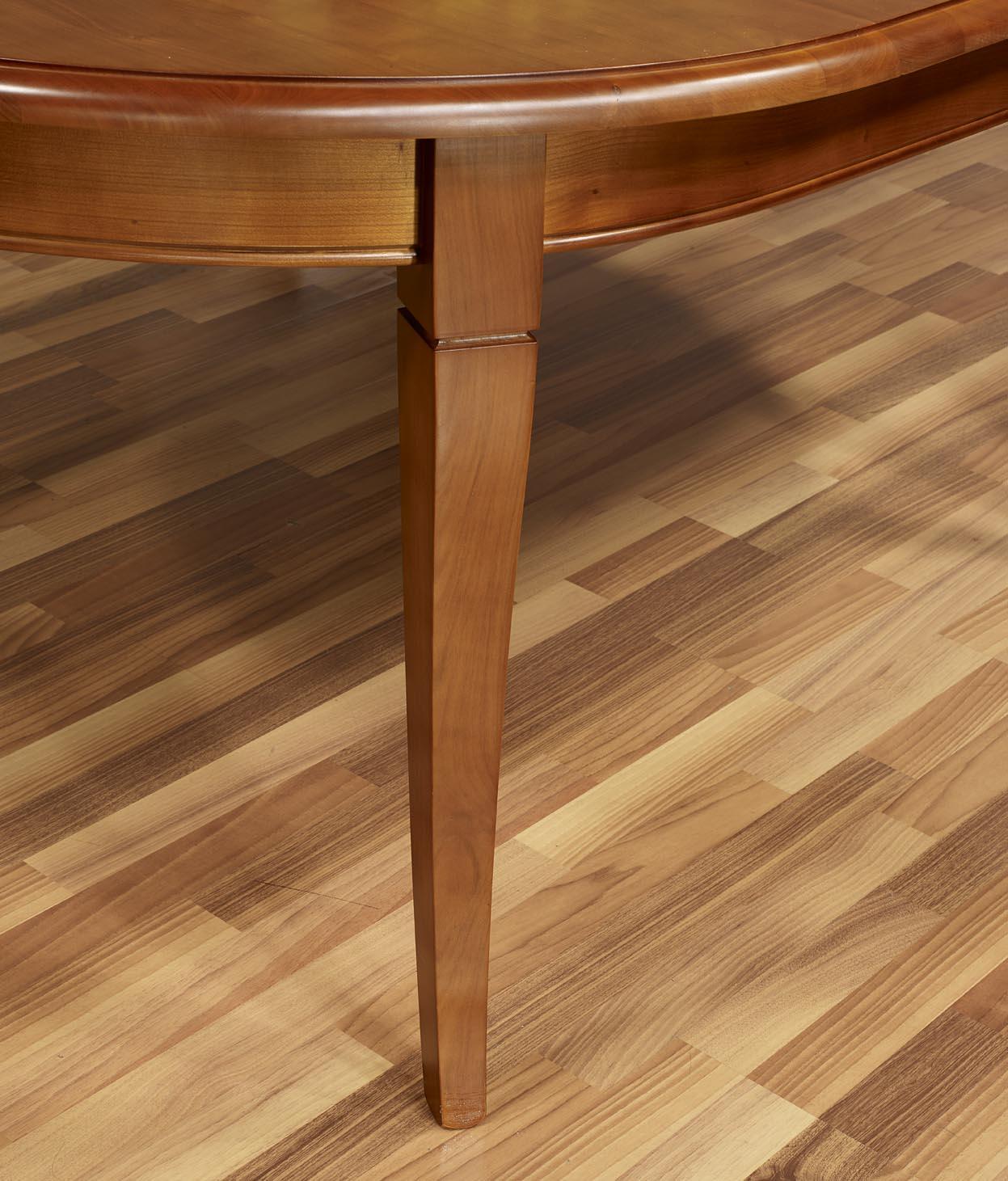 Table ovale constance 180 120 en merisier massif de style for Table bois massif ovale