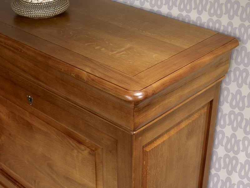 secr taire jade en ch ne massif de style louis philippe finition ch ne moyen meuble en ch ne. Black Bedroom Furniture Sets. Home Design Ideas