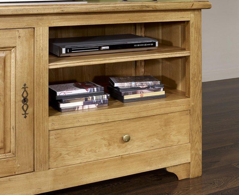 Meuble tv 16 9 me en ch ne massif de style louis philippe campagnard meuble - Meuble style campagnard ...