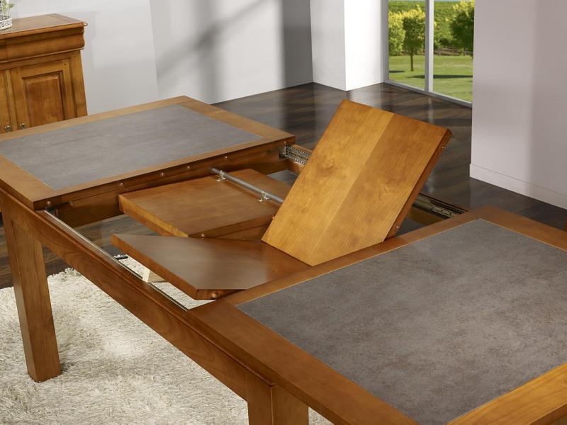 Table de repas aurore en merisier massif contemporaine - Table bois massif moderne ...
