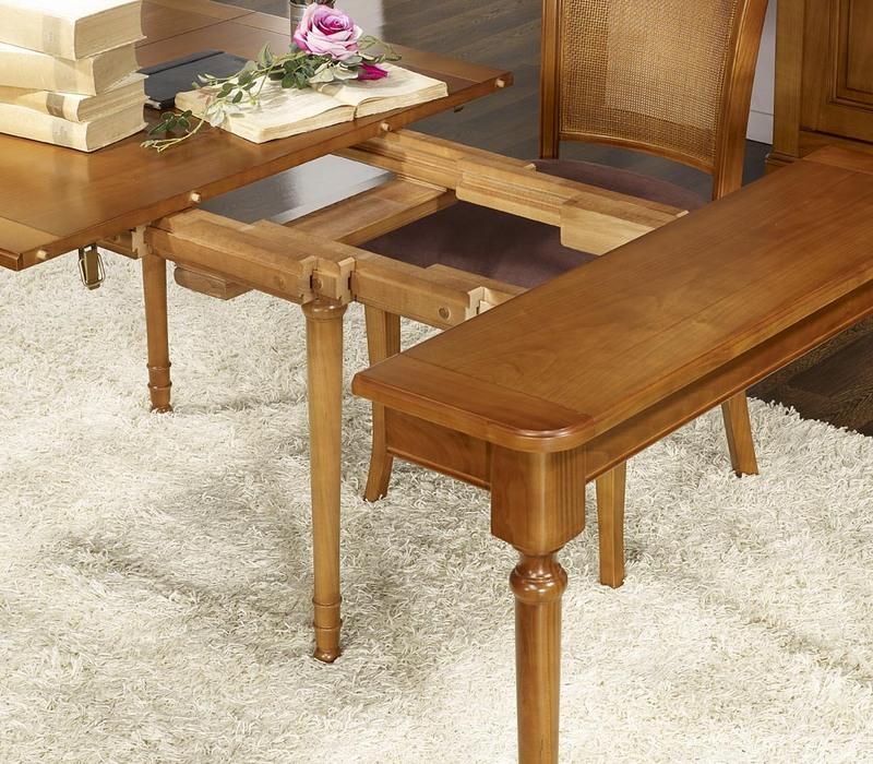 Console ou table extensible catherine en merisier de style louis philippe meuble en merisier - Table console extensible en bois ...