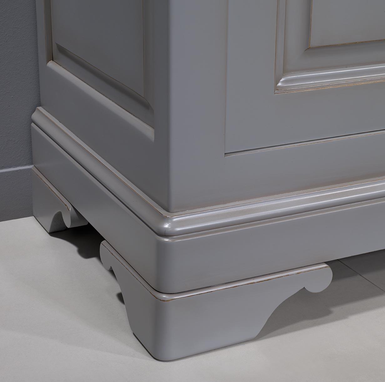 secr taire en merisier massif de style louis philippe finition gris antiquaire meuble en. Black Bedroom Furniture Sets. Home Design Ideas