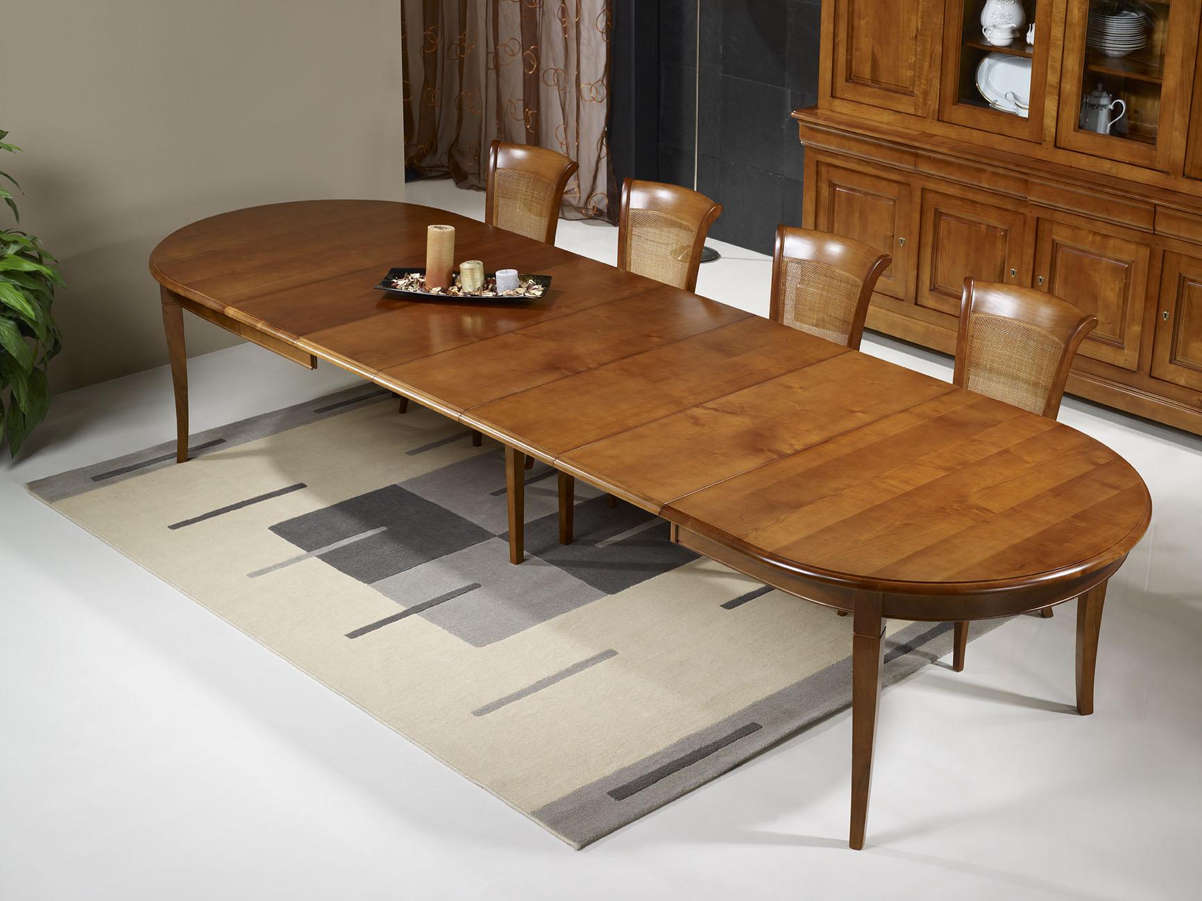 Table Ovale De Salle A Manger170 110 En Merisier Massif De Style