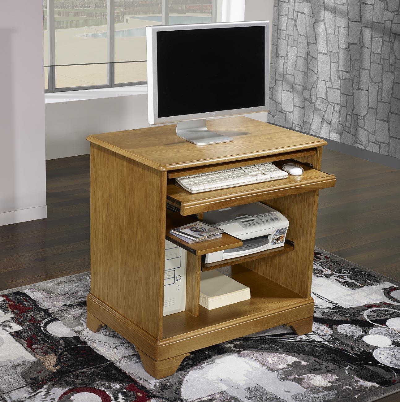 Customiser un bureau en bois - Meuble informatique bois ...