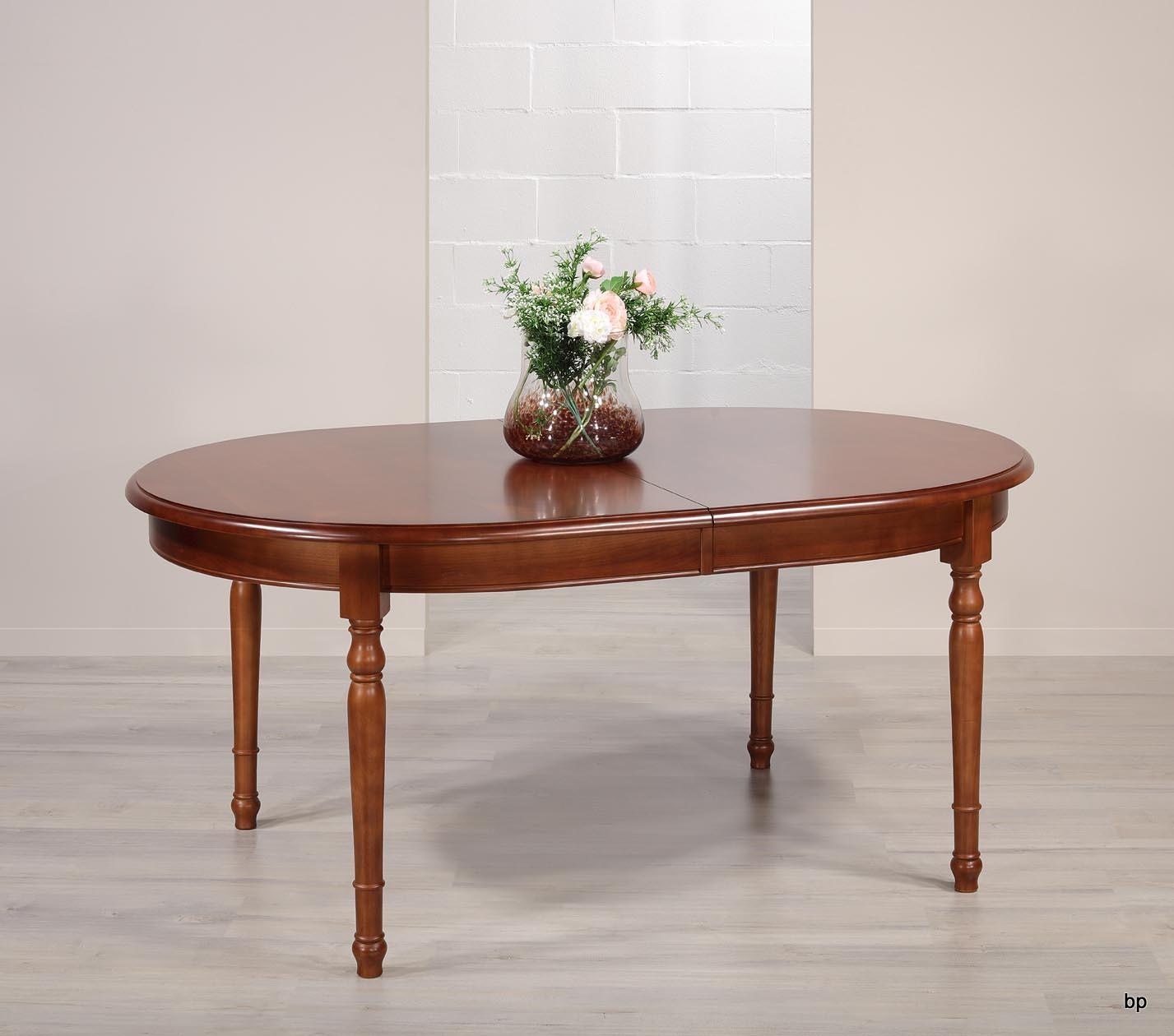 table ovale 170 110 en merisier massif de style louis. Black Bedroom Furniture Sets. Home Design Ideas