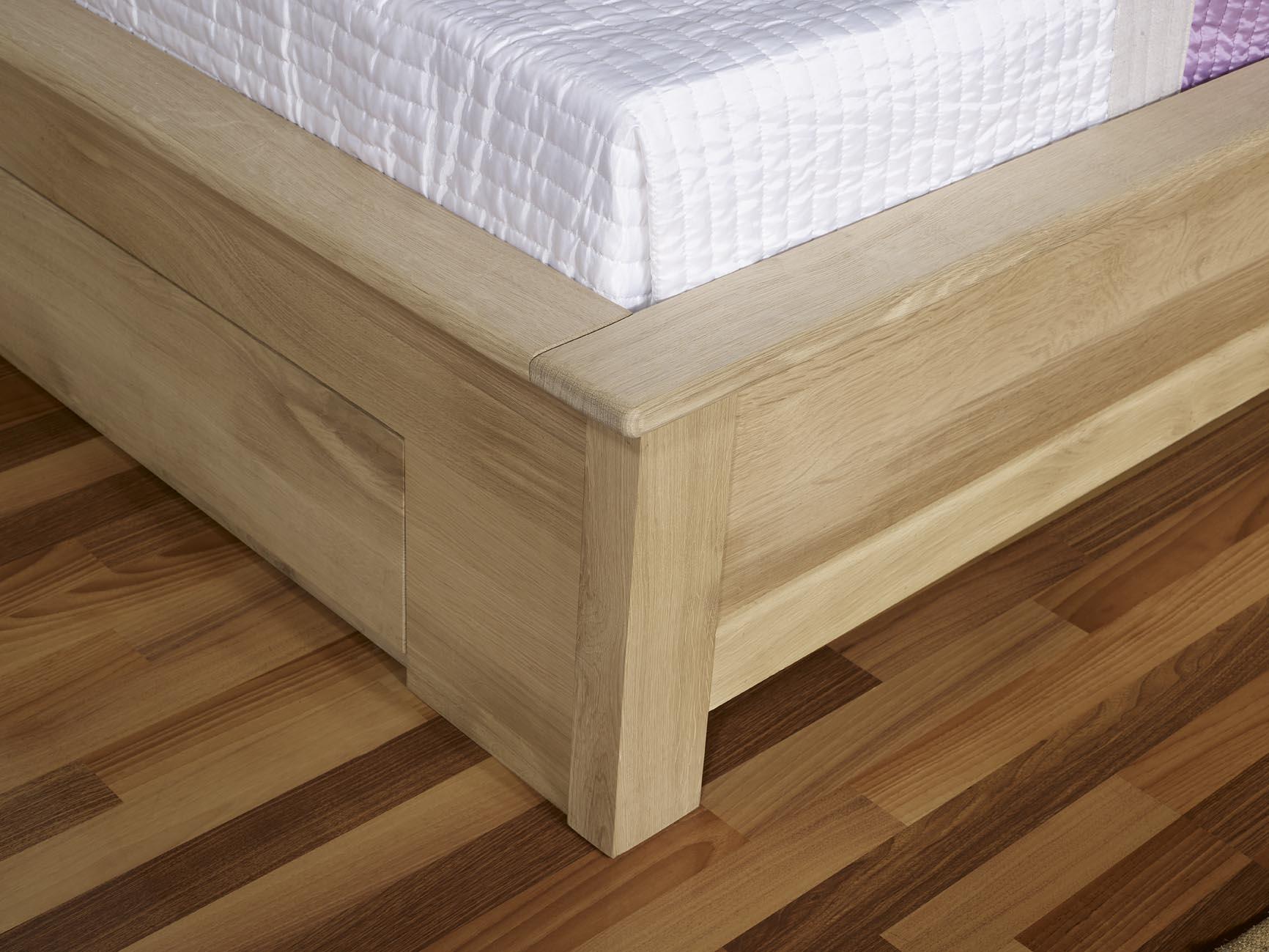 lit collection nature 160 200 en ch ne massif avec tiroirs finition ch ne bross meuble en. Black Bedroom Furniture Sets. Home Design Ideas