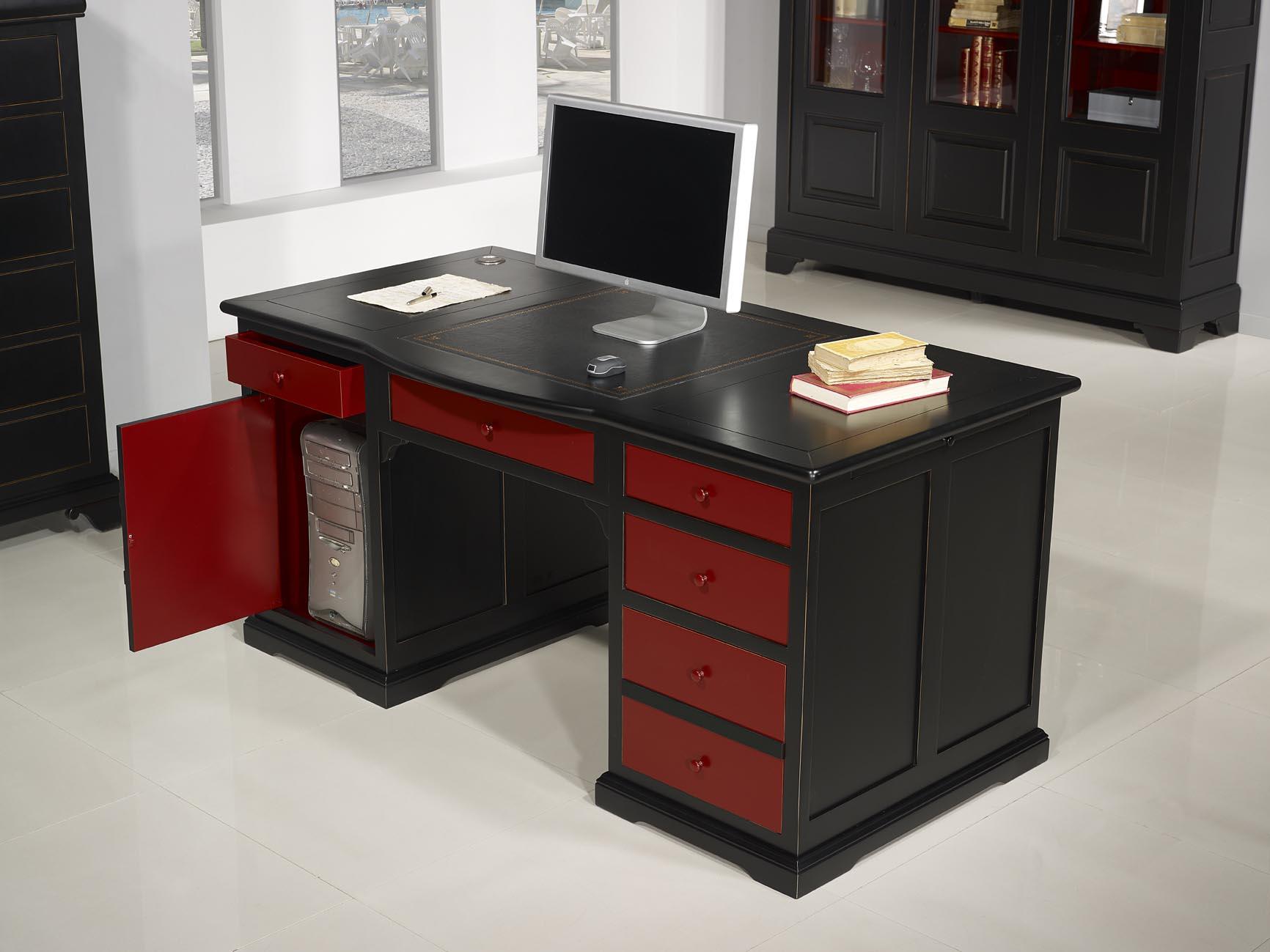 Bureau noir et bois délicieux design d intérieur bureau en bois