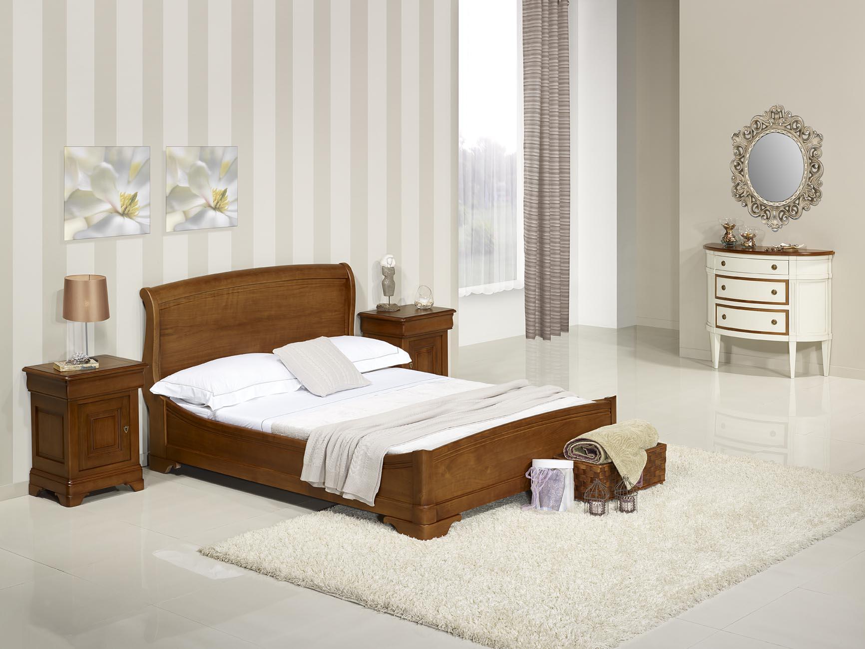 lit bois massif 140x190 maison design. Black Bedroom Furniture Sets. Home Design Ideas