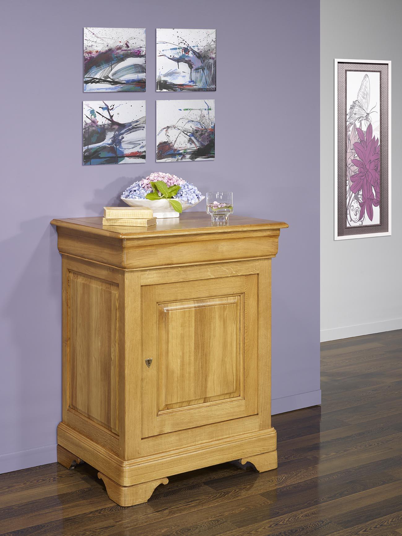confiturier en ch ne massif de style louis philippe finition ch ne naturel meuble en ch ne massif. Black Bedroom Furniture Sets. Home Design Ideas