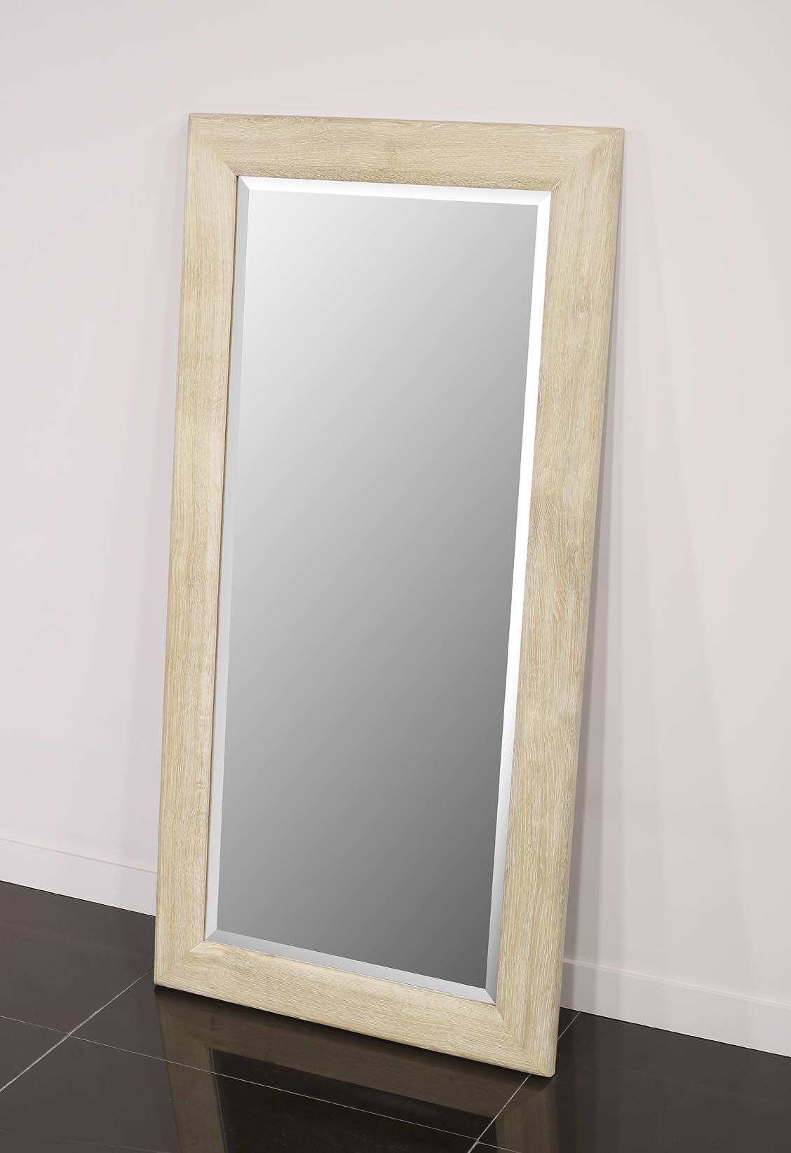 miroir glace biseaut e 120x60 en ch ne massif meuble en. Black Bedroom Furniture Sets. Home Design Ideas