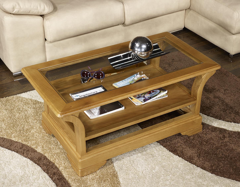 Table basse raphael en ch ne massif de style louis - Cote table meubles ...