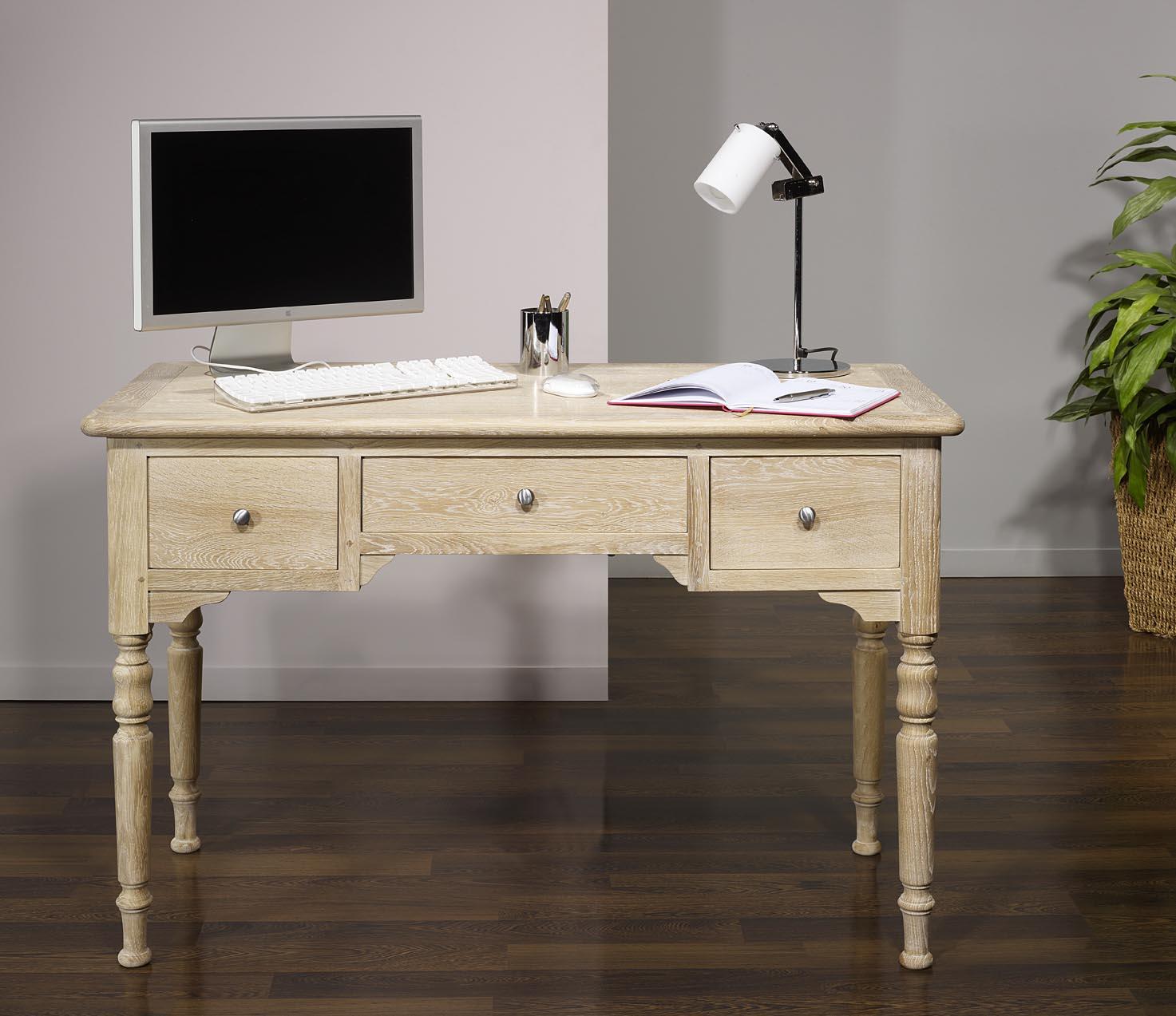 bureau 1 2 ministre jean charles en ch ne de style louis. Black Bedroom Furniture Sets. Home Design Ideas