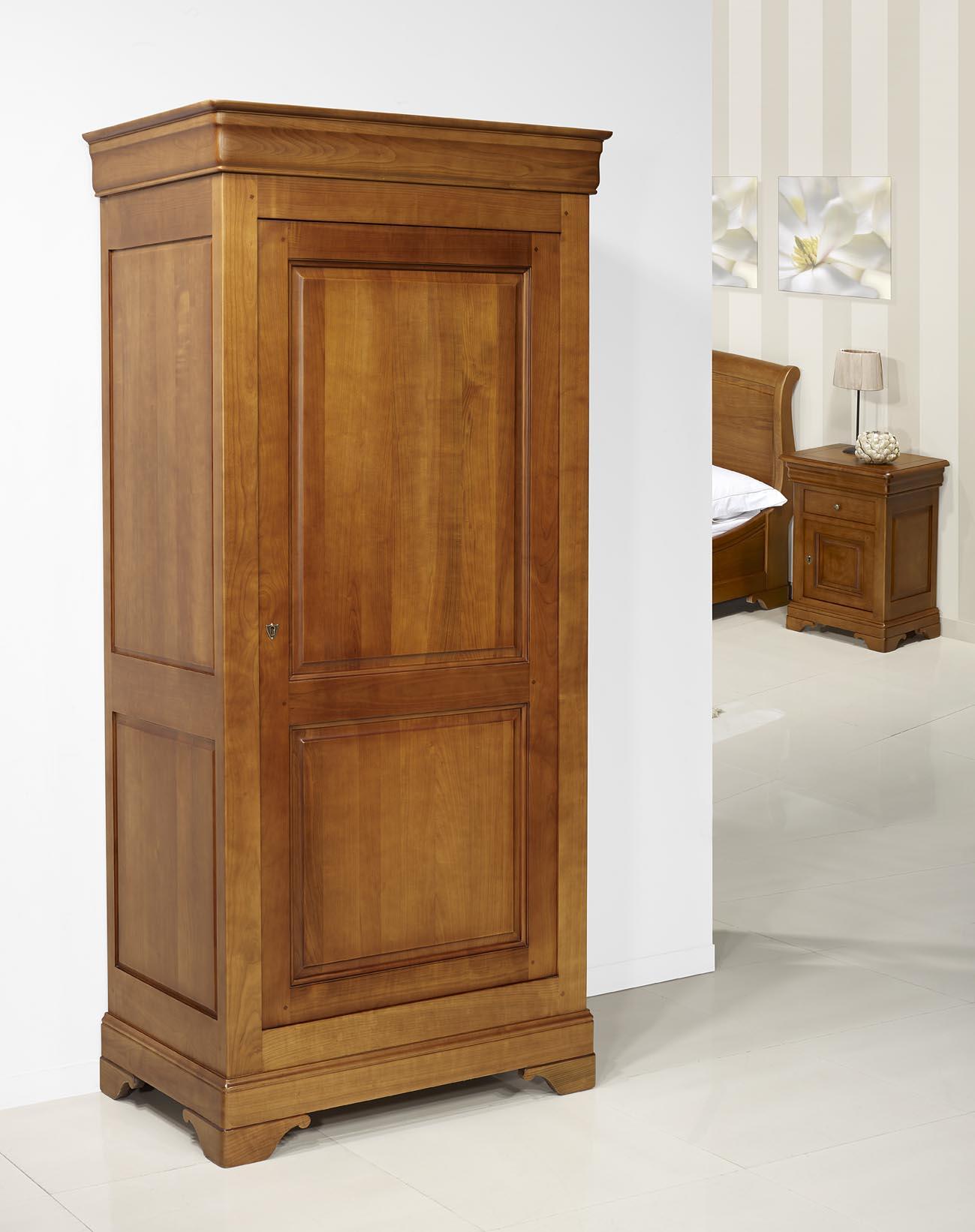 Bonneti re en merisier massif de style louis philippe meuble en merisier massif - Meubles en merisier louis philippe ...