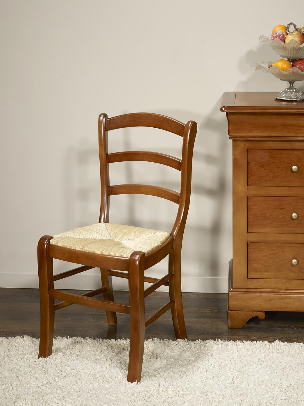 chaise en h tre massif de style louis philippe meuble en merisier massif. Black Bedroom Furniture Sets. Home Design Ideas