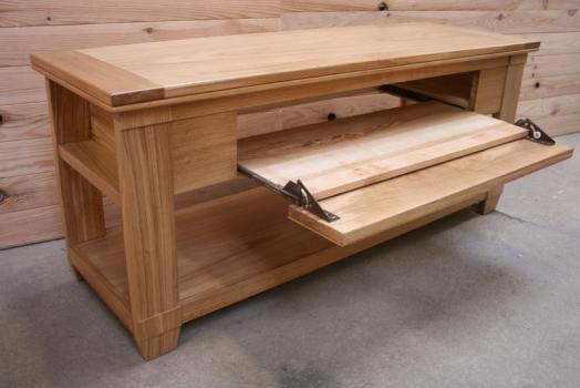 meuble tv sp cial cran plat en merisier de style campagnard meuble en merisier massif. Black Bedroom Furniture Sets. Home Design Ideas
