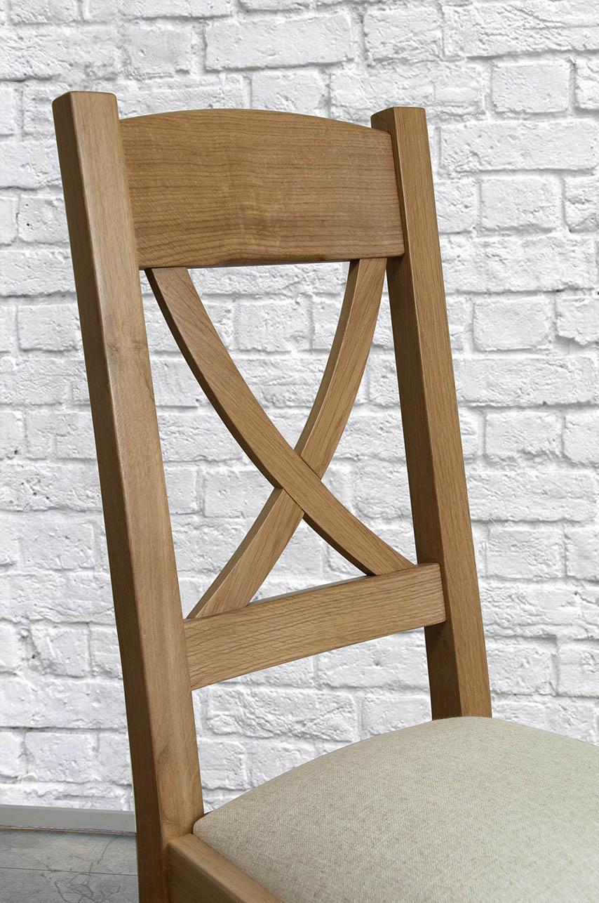 Chaise olivier en ch ne massif de style campagne assise tissu meuble en ch - Tissu style campagne ...