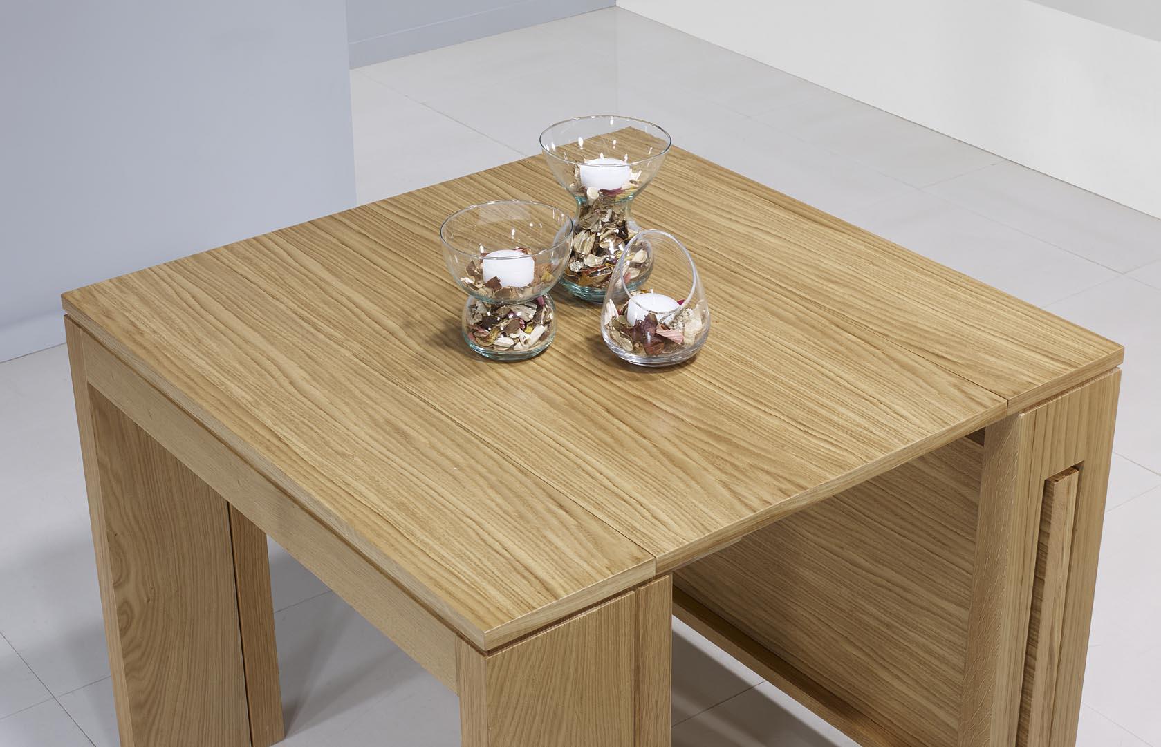 console extensible en ch ne de ligne contemporaine 3 allonges finition ch ne naturel meuble en. Black Bedroom Furniture Sets. Home Design Ideas