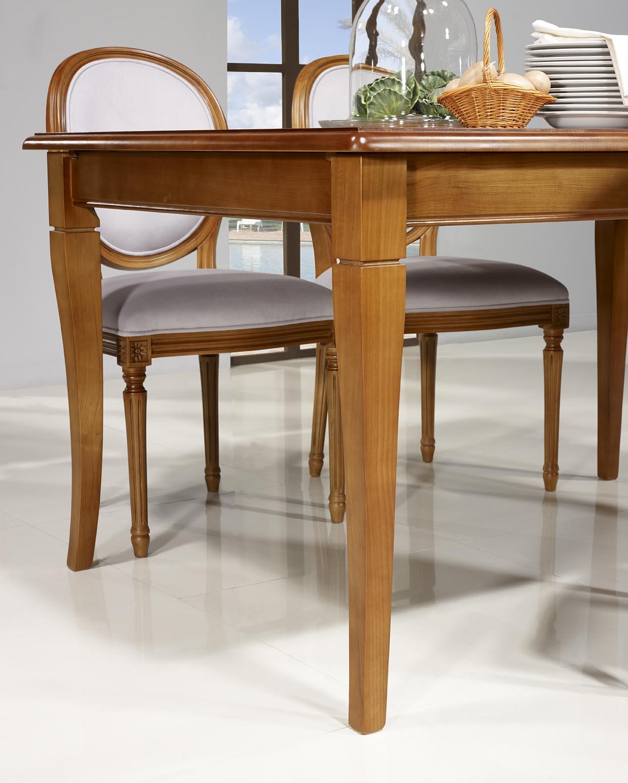 table de repas emeline en merisier massif de style louis philippe 140x100 meuble en merisier. Black Bedroom Furniture Sets. Home Design Ideas