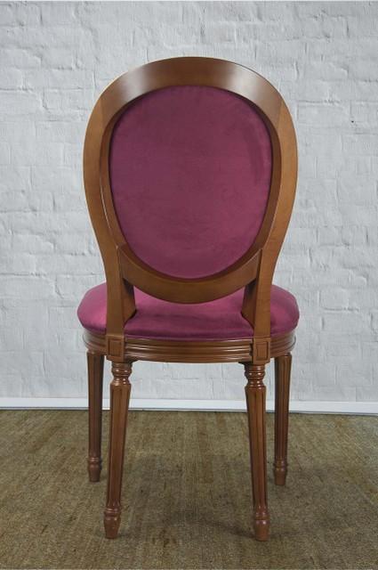 chaise emeline en merisier massif de style louis xvi su dine bordeaux meuble en merisier massif. Black Bedroom Furniture Sets. Home Design Ideas