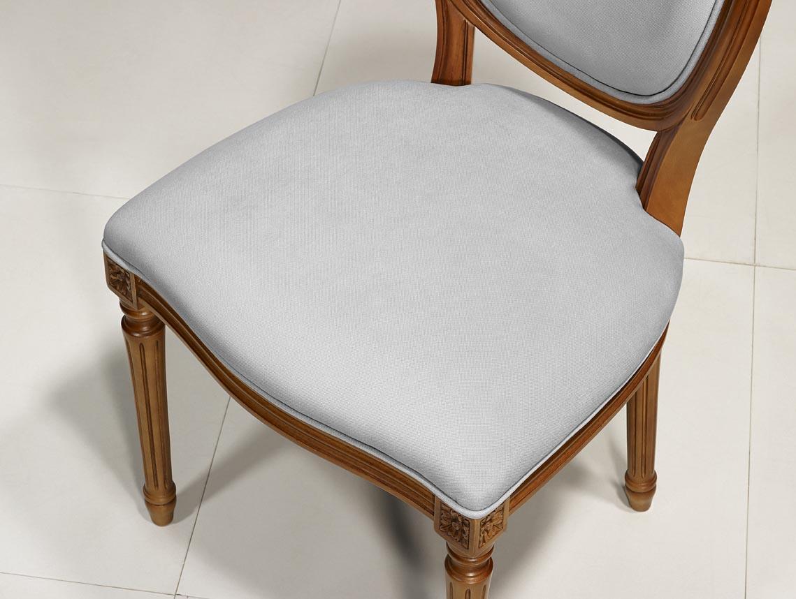 Meubles Bois Massif Merisier - Chaise Emeline en Merisier Massif de style Louis XVI , meuble en Merisier massif