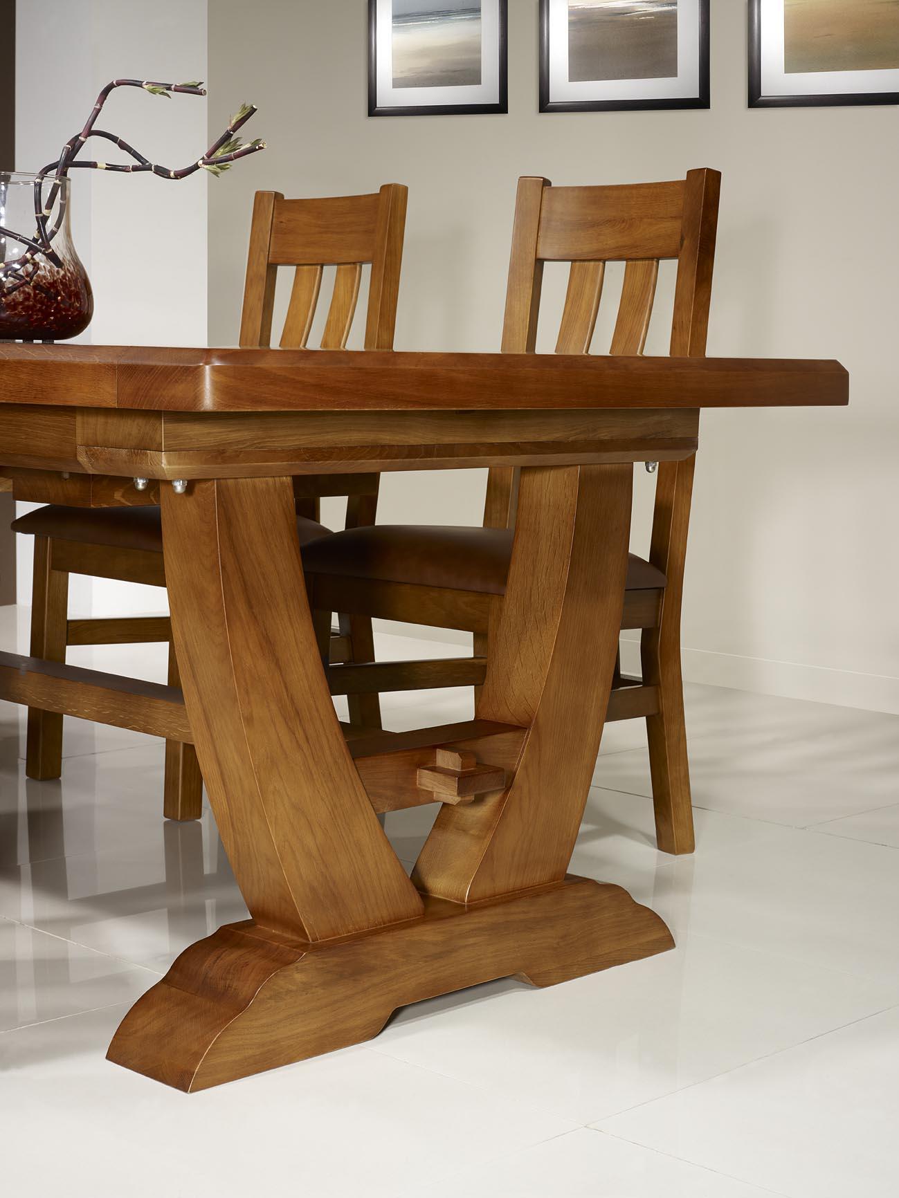 table monast re eliot 220x110 en ch ne massif 2 allonges. Black Bedroom Furniture Sets. Home Design Ideas